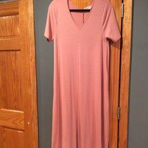 Zenana maxi dress (rose)